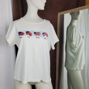 Holiday Editions Red white blue americana tee